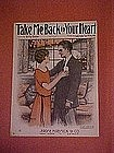 Take me back to your heart, music from 1924