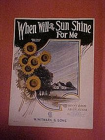 When will the sun shine for me, music  1923