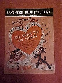 Lavender Blue (Dilly Dilly) Walt Disney 1948