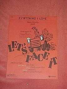 "Ev'rything I love, from ""Lets Face it""  1943"