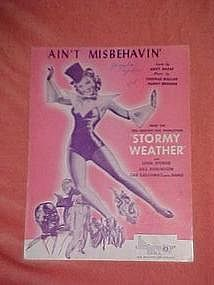 Ain't Misbehavin, Lena Horne and Cab Calloway cover
