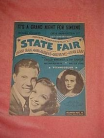 "It's a grand night for singing, from ""State Fair"" 1945"