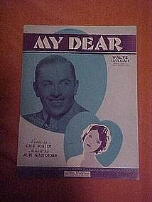 My Dear, music 1929