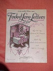 Faded Love Letters ~of mine, music 1922