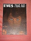 Eyes that say I love you, by Fred Fisher 1919