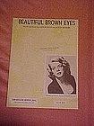 Beautiful Brown eyes, by Rosemary Clooney 1951