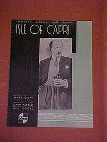 Isle of Capri, by Jimmy Kennedy and Will Grosz 1934