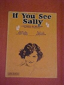 If you see Sally, fox trot music 1927