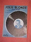 Jolie Blonde (pretty blonde)  sung by Red Foley 1947