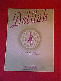 Deliliah, music by Jimmy Shirl and Henry Manners 1941