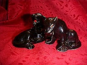 Black panther set of salt and pepper shakers