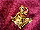 Genie on a magic carpet, pin
