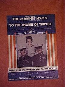 "The Marines Hymn featured in ""To the shores of Tripoli"""