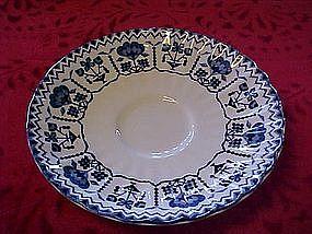 """J&G Meakin """"Sampler"""" blue saucer, England"""