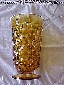 Amber footed tumbler, Colony Whitehall pattern