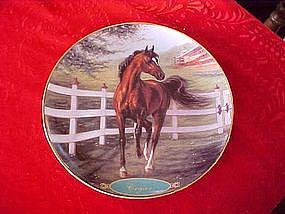 Danbury Mint Cigar, collectors horse plate