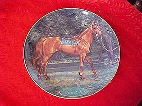 Danbury Mint Man o' War, collectors horse plate