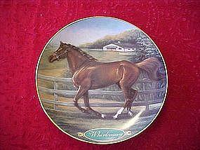 Danbury mint Whirlaway, collectors horse plate