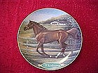 Danbury mint Whirlaway, collectors horse plate