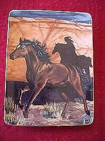 Thunder in the Canyon Mystery Rider, horse plate