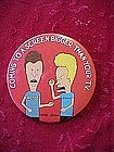 Beavus and Butthead pinback button