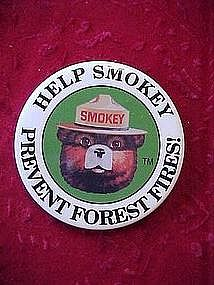 Smoky the Bear pin back button