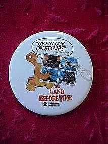 Land before time Us Postage stamps promotional button