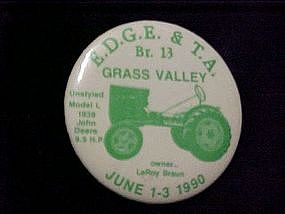 Early Day Gas Engine & Tractor Assn, pin back button