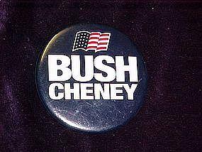 Bush Cheney, pin back button