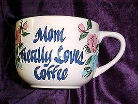 Handpainted oversized coffee cup for Mom
