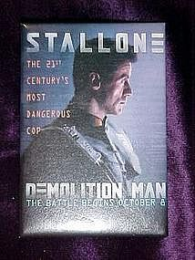 Demolition Man, movie pin back button