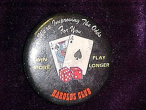 Harolds Club Casino, pin back button