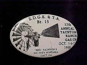 Eary Days Gas Engine & Tractor assn, pin back button