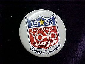 1993 National YoYo Championship, pin back button