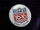 1993 National YoYo Championship, pin back button