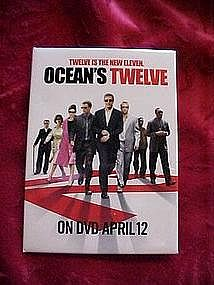 Oceans Twelve, promotional pin back button
