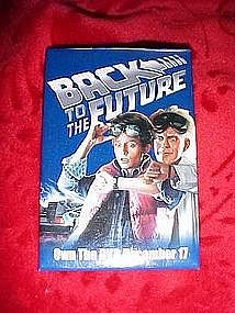 Back to the future, dvd promo pin back button