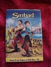 Sinbad, Legend of the seven seas, pin back button