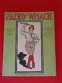 Paddy Whack, sheet music 1907