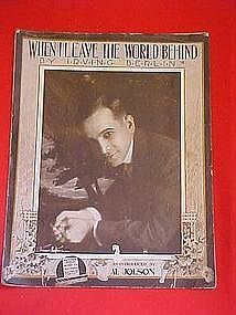 When I leave this world behind, sheet music 1914