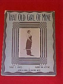 That old girl of mine, sheet music 1912