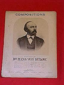 Compositions ,Polacca Brillante, sheet music 1890s era