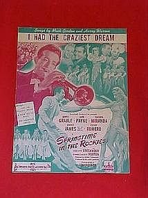 I had the craziest dream, sheet music 1942