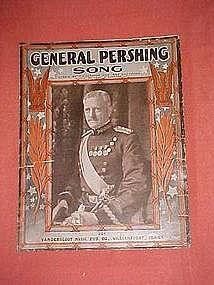 General Pershing Song, sheet music 1918