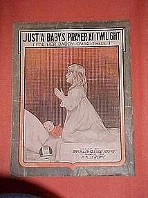 Just a baby's prayer at twilight (for her daddy over...