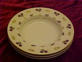 "Noritake Avalon 8 1/8"" rimmed soup bowls"