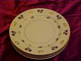 "Noritake Avalon luncheon plates, 8 1/4"""