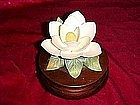 Lefton musical Magnolia porcelain sculpture