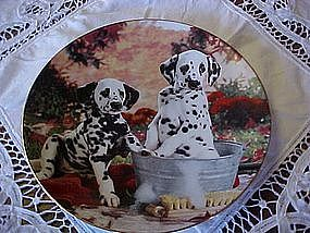 You missed a spot, Dalmation collector plate 1995