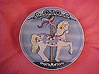 Sweet Stander, musical carousel horse plate